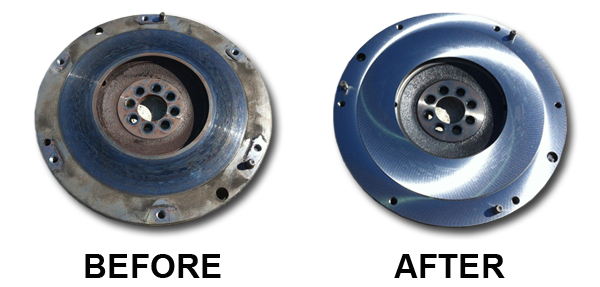 advanced-cylinder-heads-llc-flywheel-before-after